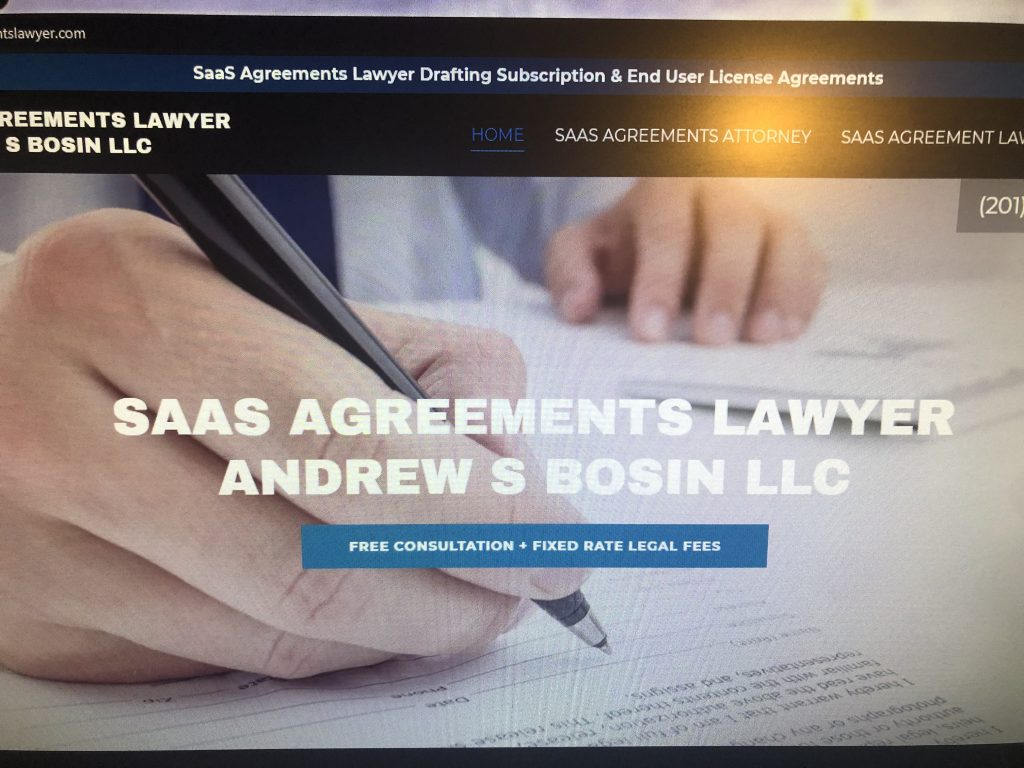 Legal Issues in Software as a Service (SaaS) Agreements